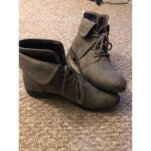 Shoes - Grey combat booties